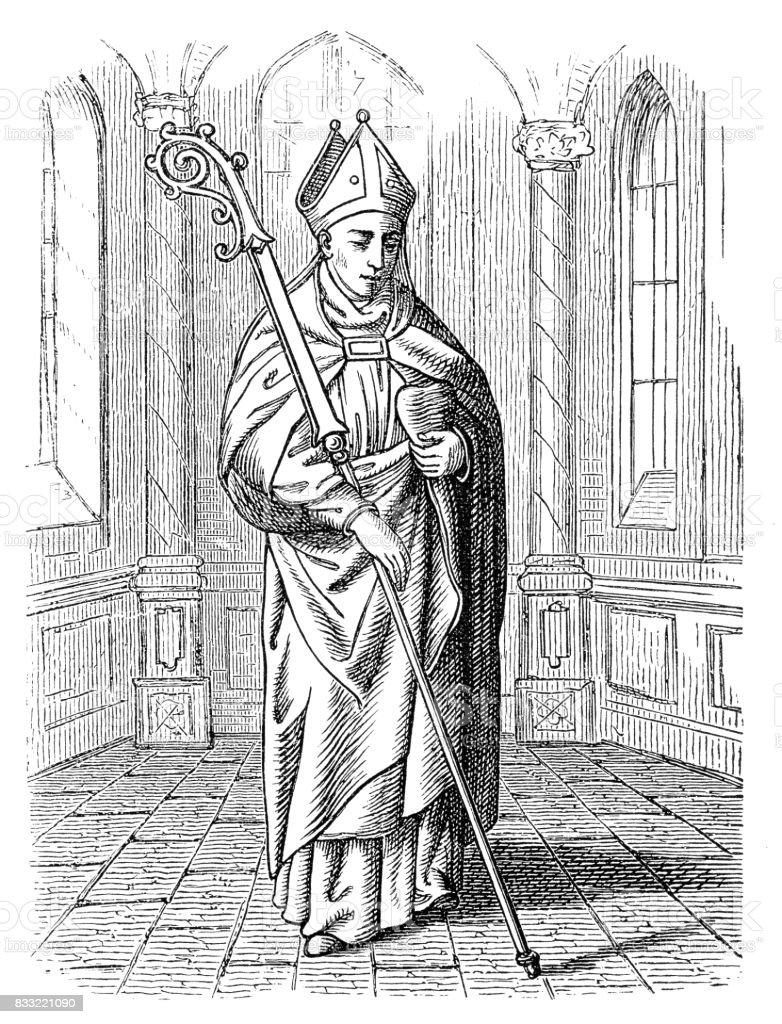 Saint Augustine Of Hippo vector art illustration