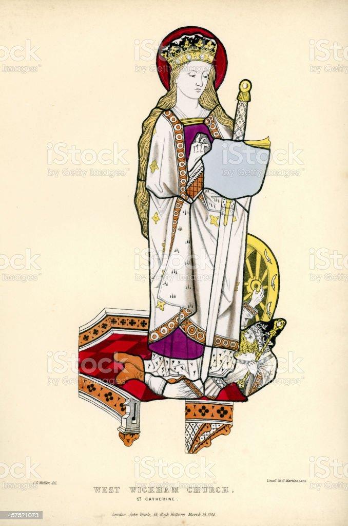 Saint Catherine royalty-free stock vector art