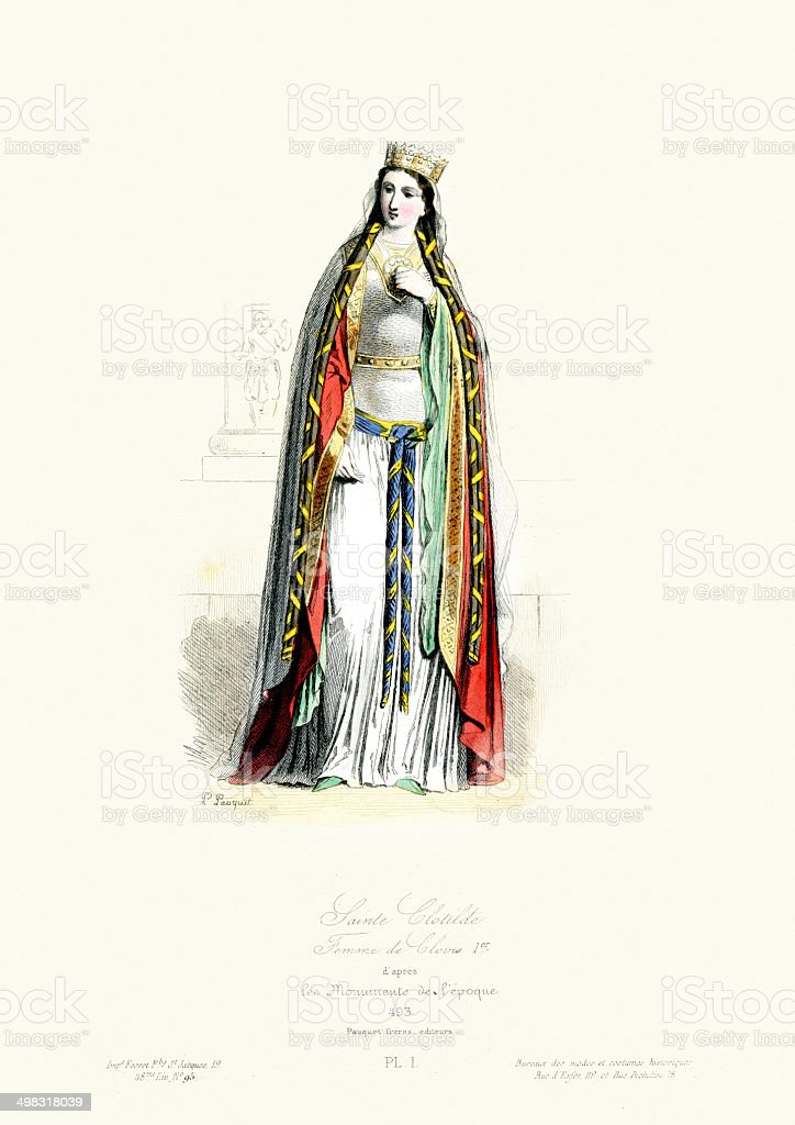 Saint Clotilde royalty-free stock vector art