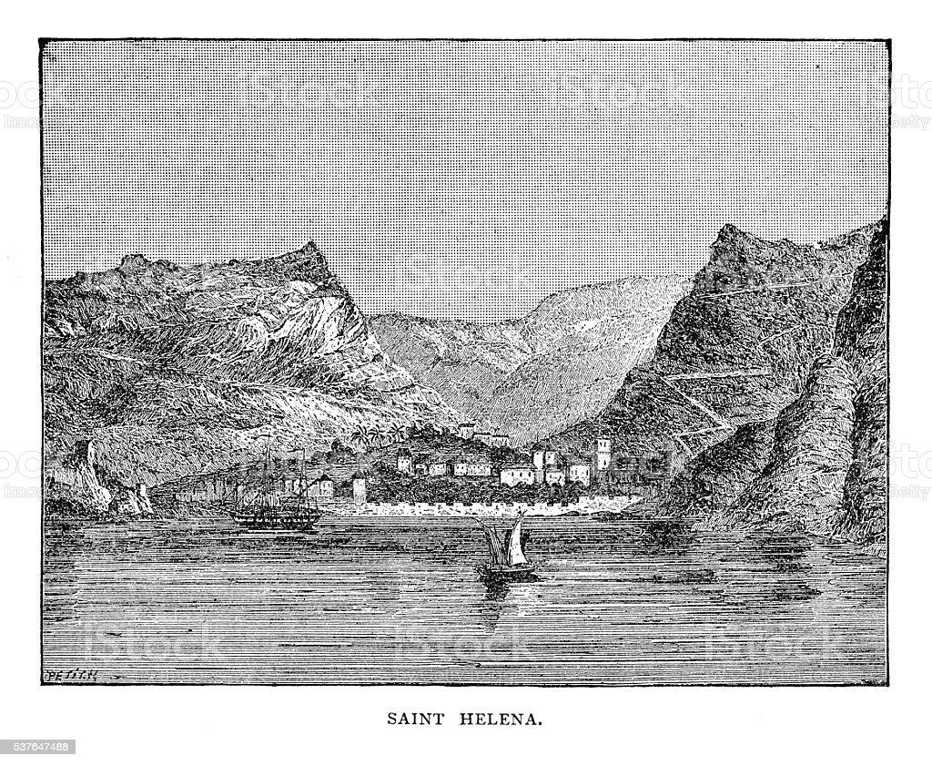 Saint Helena vector art illustration