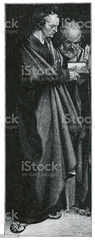 Saint John and Peter royalty-free stock vector art