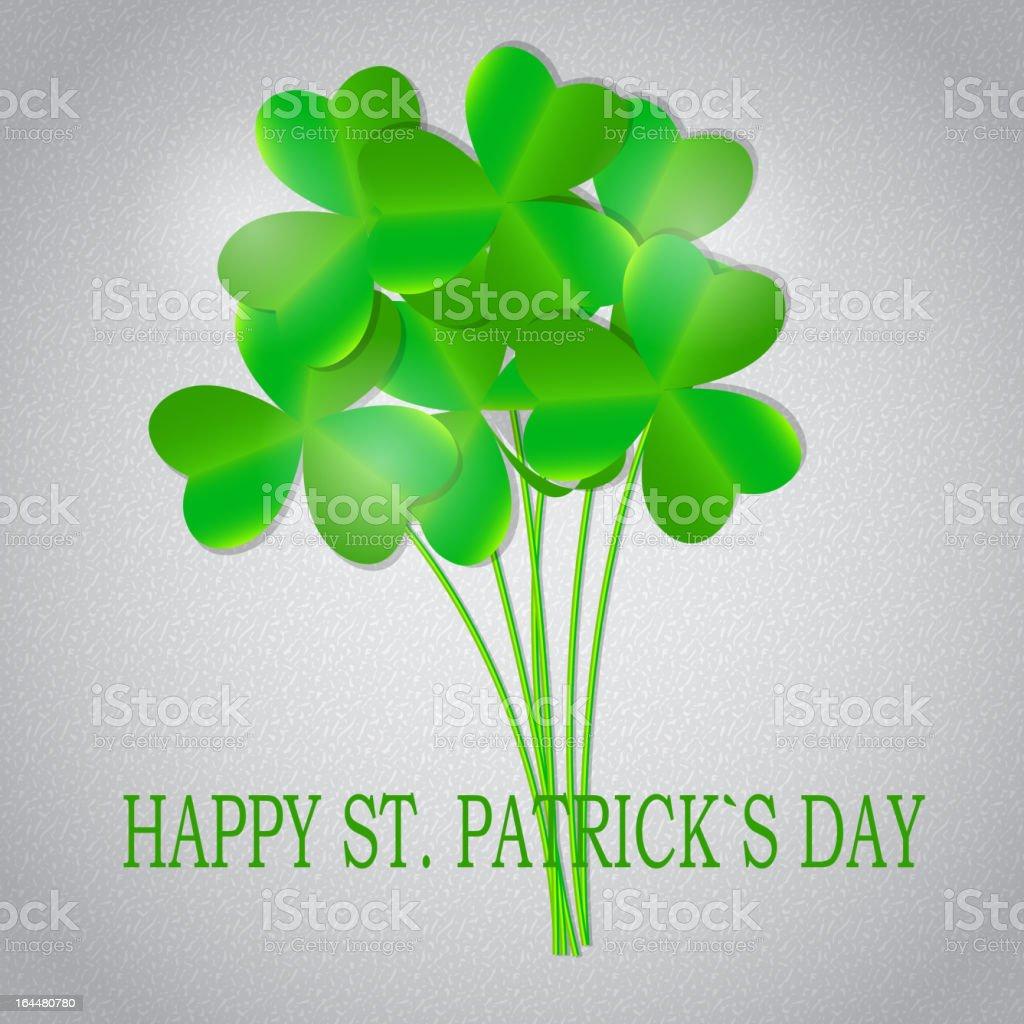Saint Patrick`s day background vector illustration royalty-free stock vector art