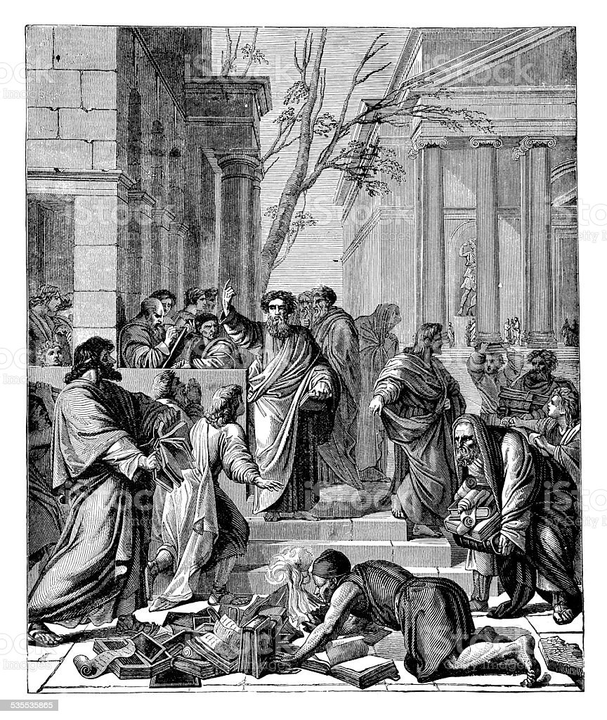 Saint Paul Preaching At Ephesus vector art illustration