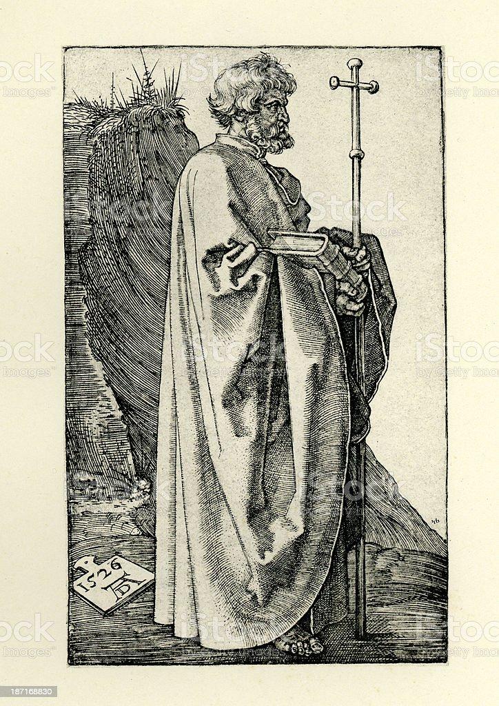 Saint Philip the Apostle royalty-free stock vector art
