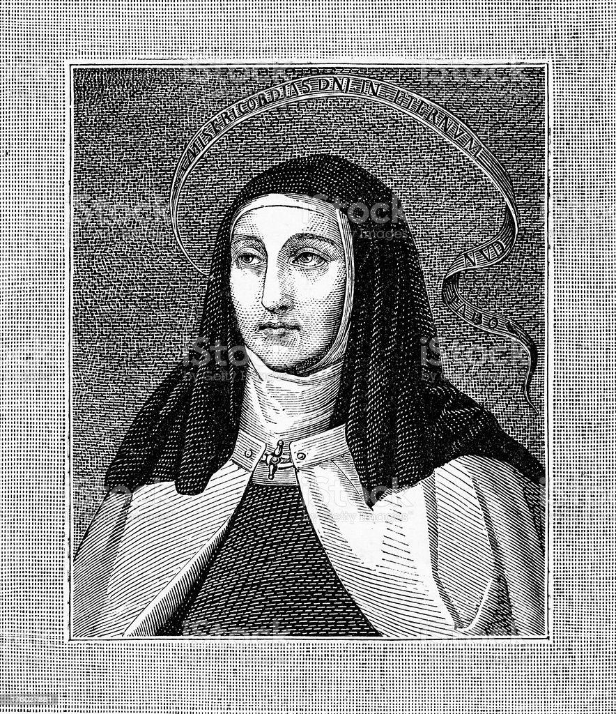 Saint Theresa of Avila vector art illustration
