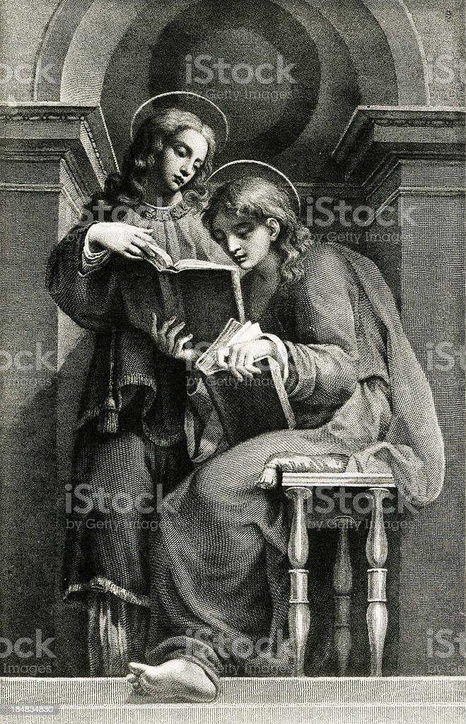 Saints Lawrence And Vincenzo vector art illustration