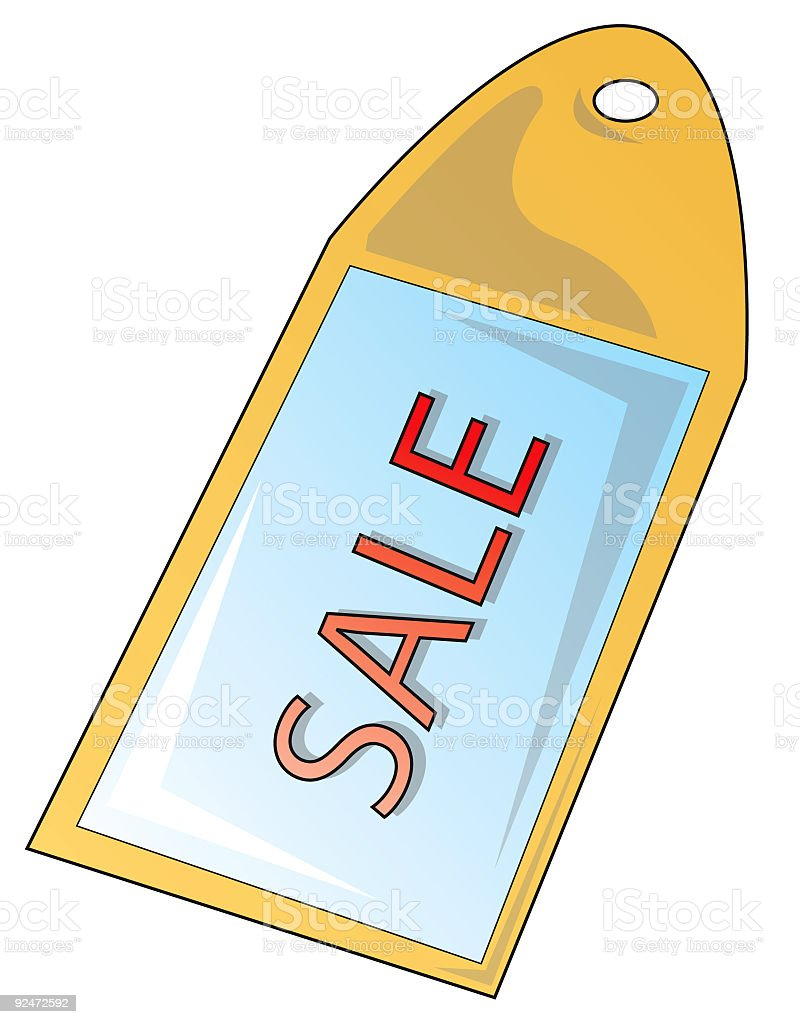 Sale tag royalty-free stock vector art