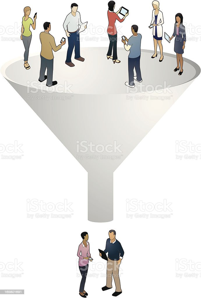 Sales Funnel Illustration royalty-free stock vector art