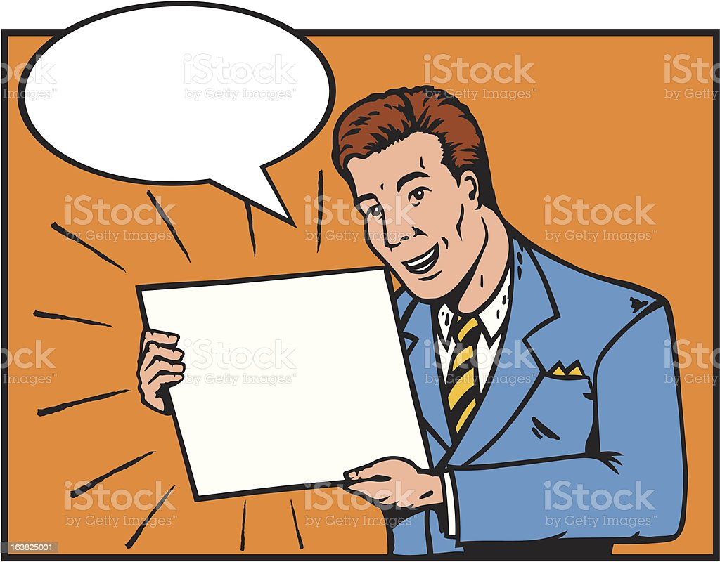 Sales guy royalty-free stock vector art