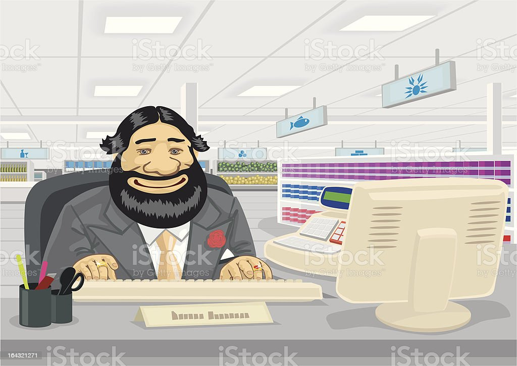 Salesman vector art illustration