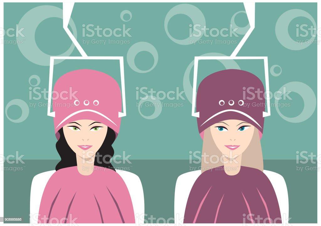 Salon girls royalty-free stock vector art