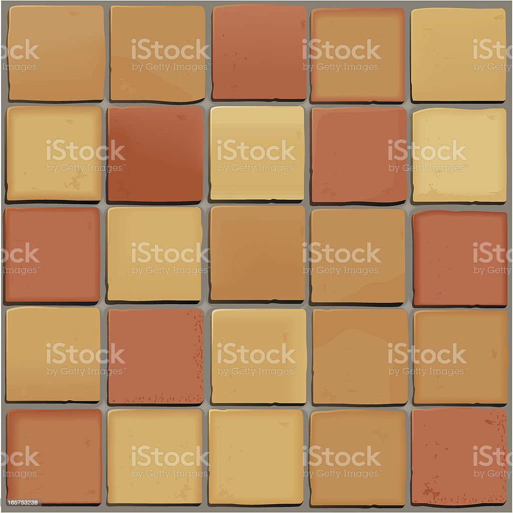 Saltillo Tiles Pattern Background royalty-free stock vector art