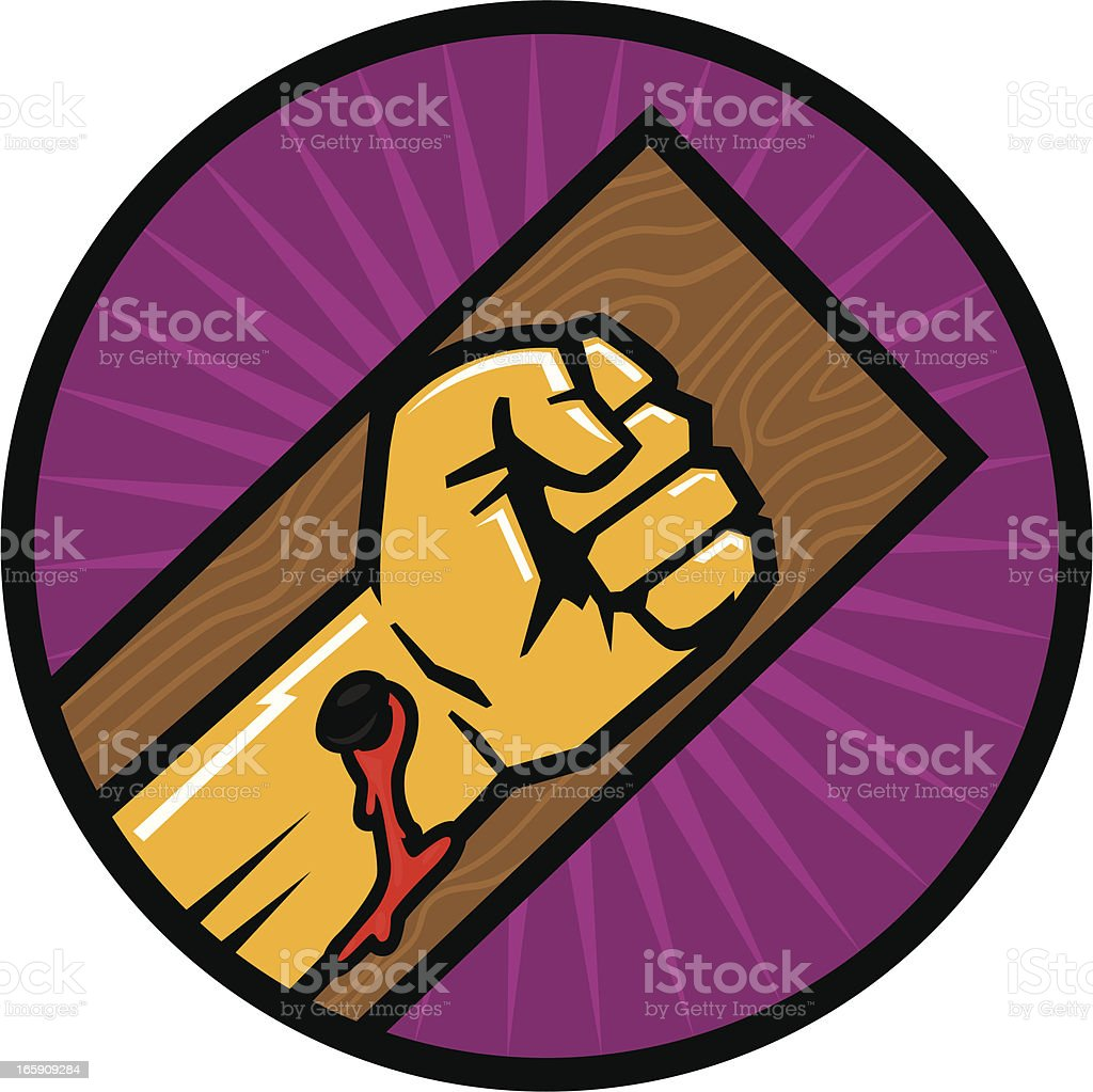 salvation fist vector art illustration