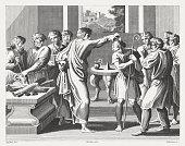 Samuel Anoints David as King (1 Samuel 16), published 1841