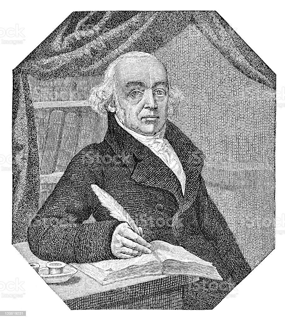 Samuel Hahnemann royalty-free stock vector art
