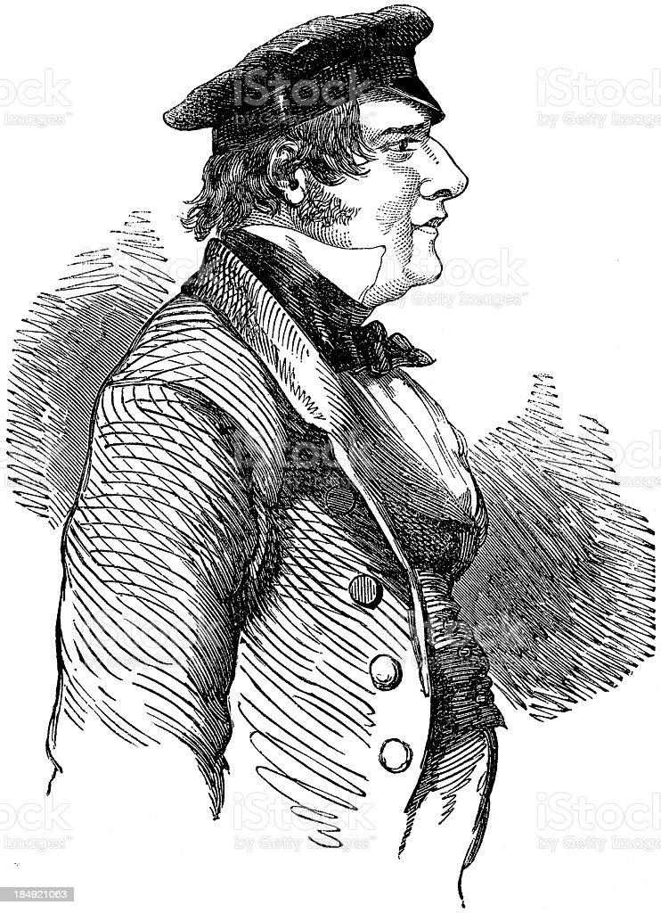 'Samuel Stutchbury, Government Geological Surveyor (engraved illu' vector art illustration