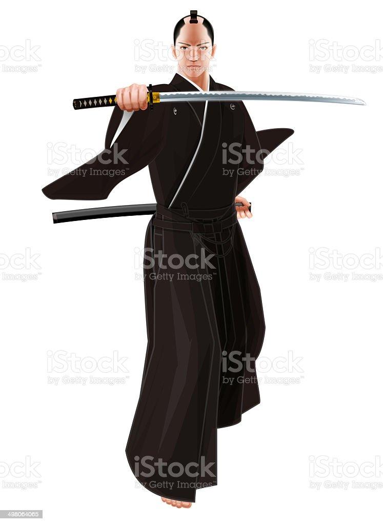 Samurai of Japan royalty-free stock vector art