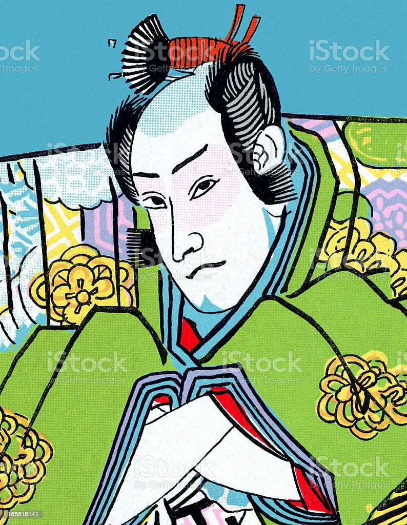 Samurai Warrior royalty-free stock vector art