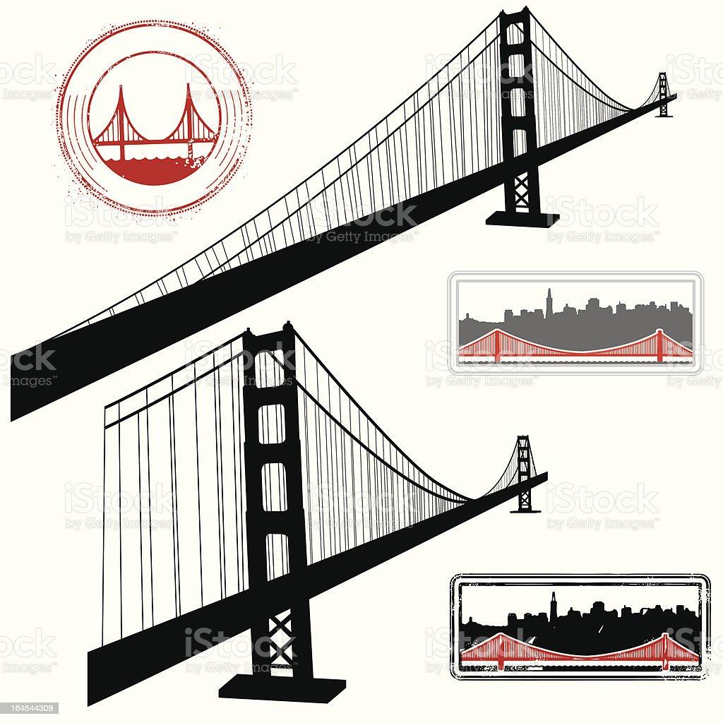 San Fran Super Scene royalty-free stock vector art
