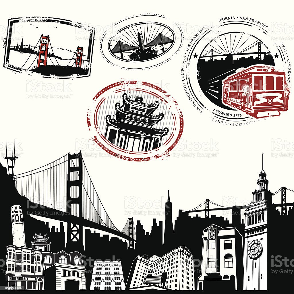San Fran Superdeluxe vector art illustration