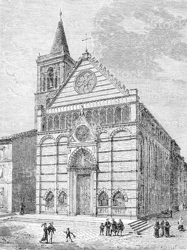 San Paolo Church in Pistoia vector art illustration