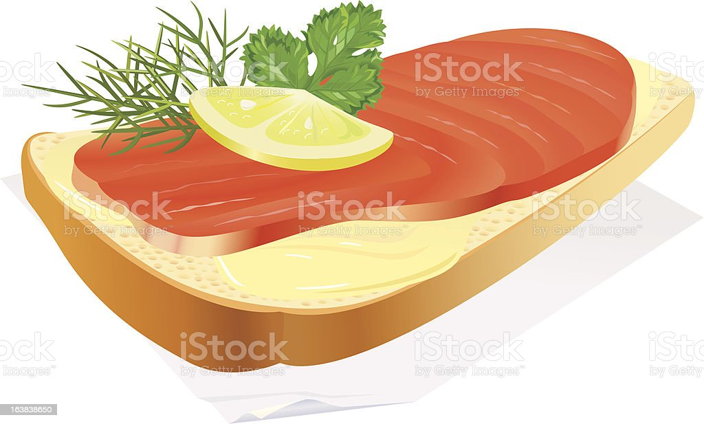 sandwich with fish royalty-free stock vector art