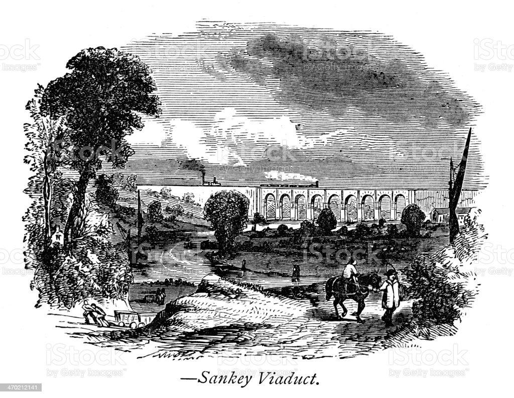 Sankey Viaduct royalty-free stock vector art