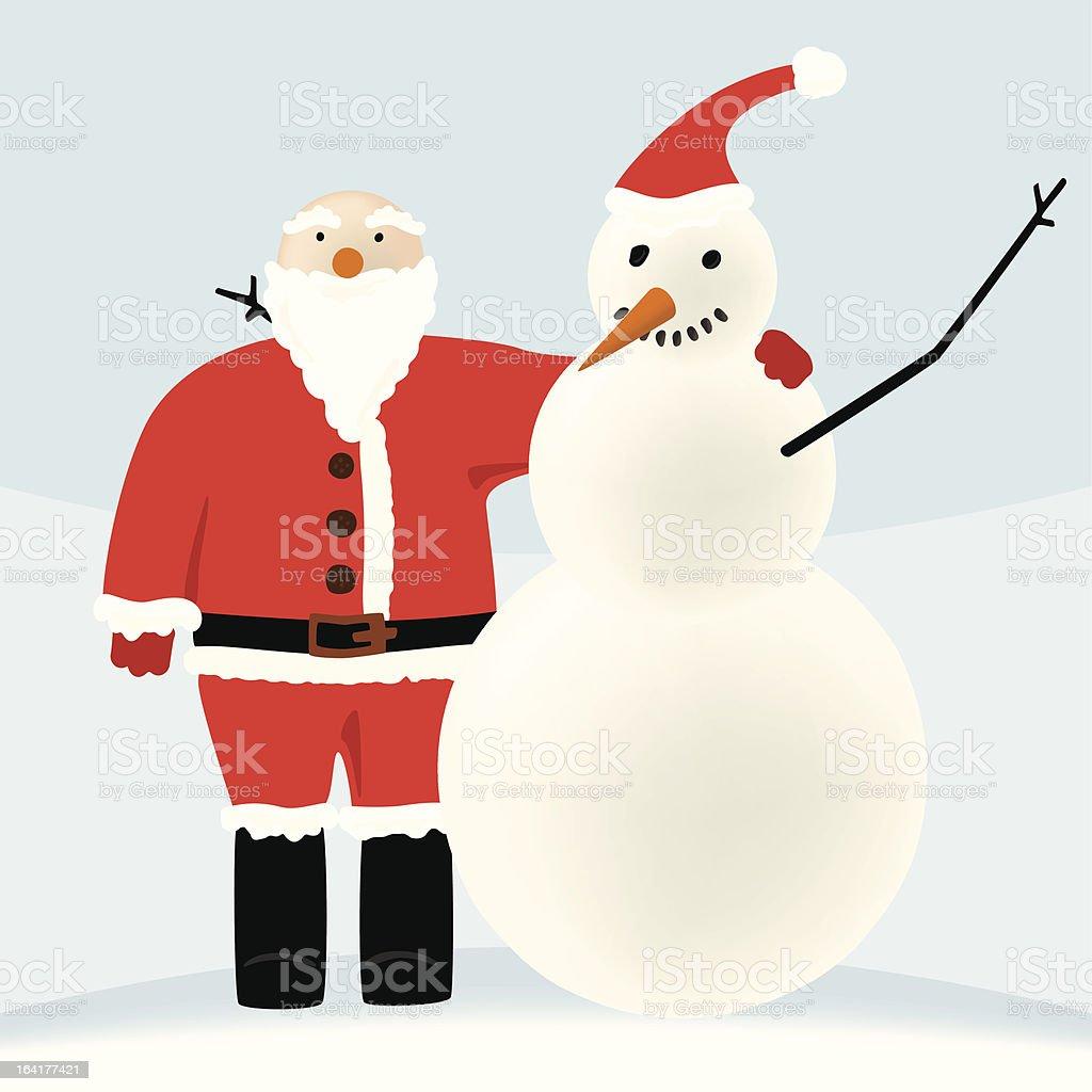 Santa and friend (vector) royalty-free stock vector art