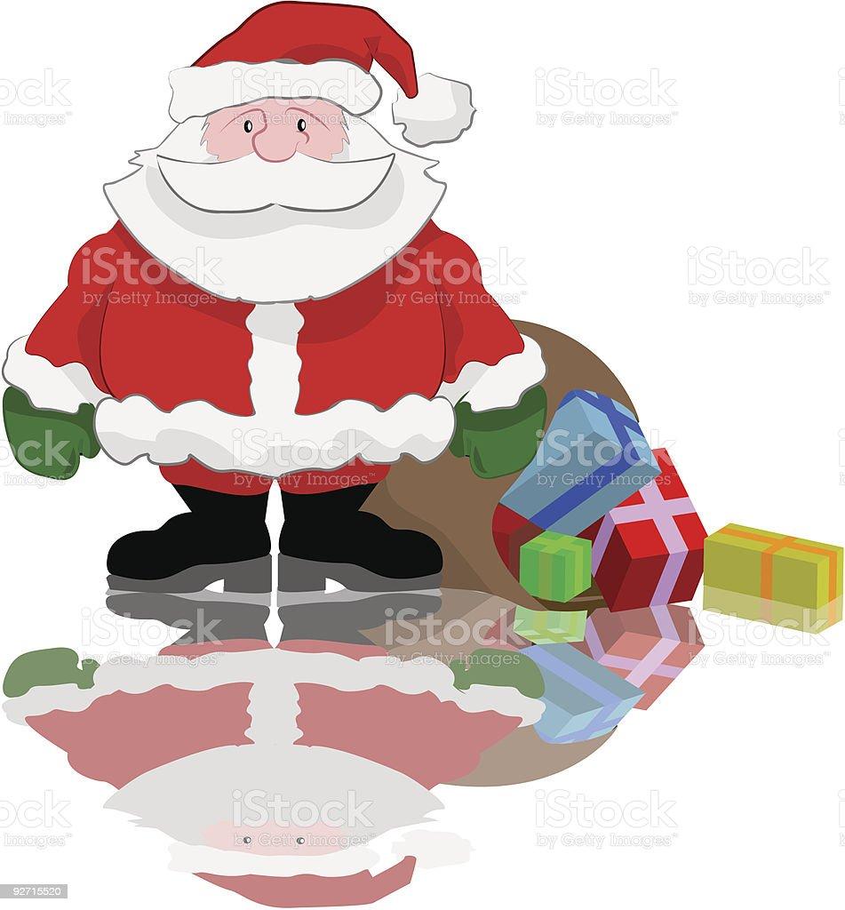 Santa and presents royalty-free stock vector art