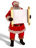 Santa Claus 3D Illustration Isolated On White