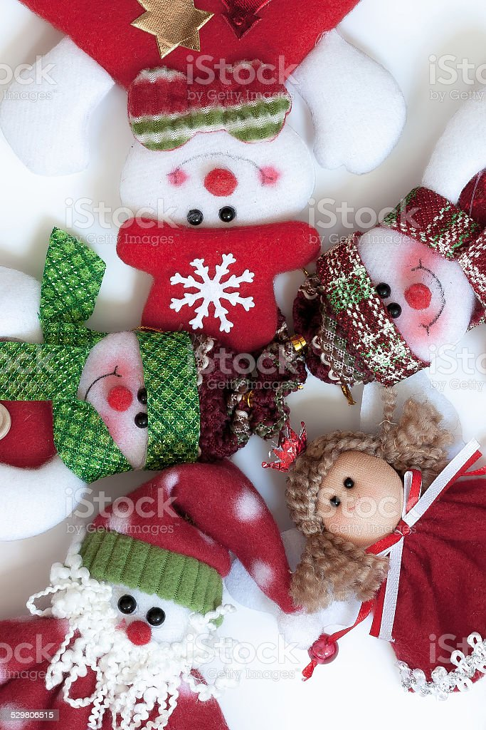 Papai Noel e seus amigos. Engraçado composição. vetor e ilustração royalty-free royalty-free