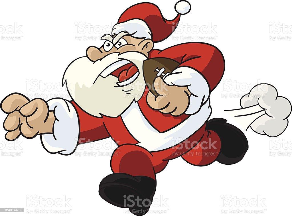 Santa Claus Football Player royalty-free stock vector art