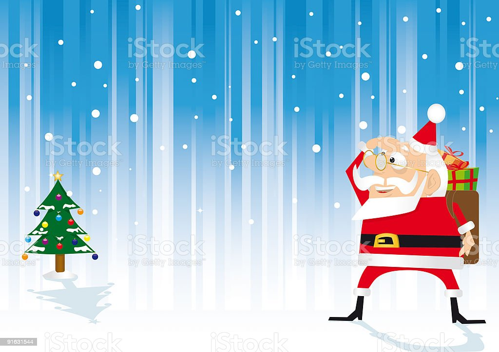 Santa claus is coming back royalty-free stock vector art