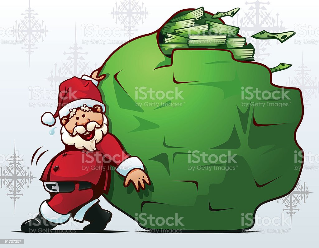 Santa Claus is coming to town! royalty-free stock vector art