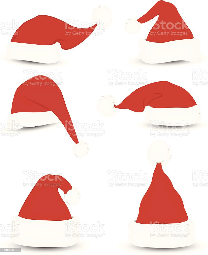 Santa Hats vector art illustration