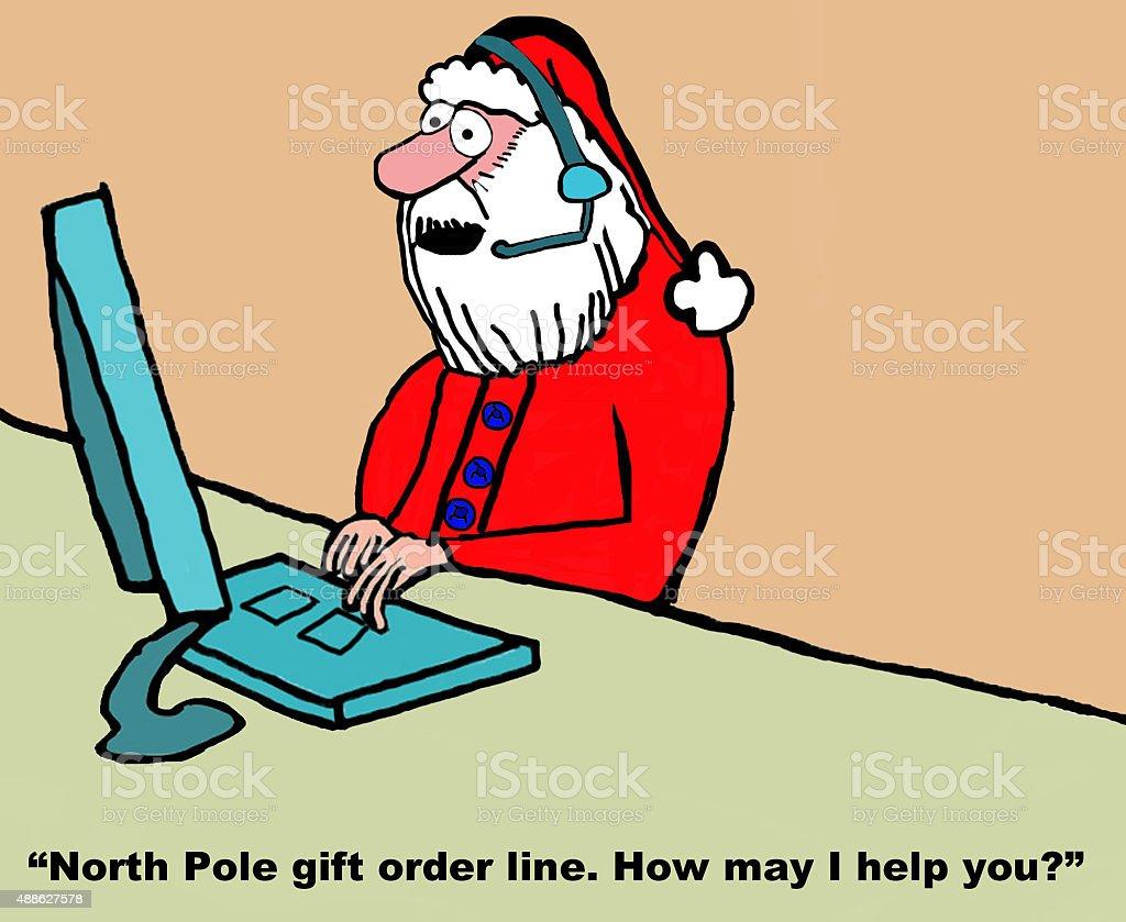 Santa is Customer Rep vector art illustration