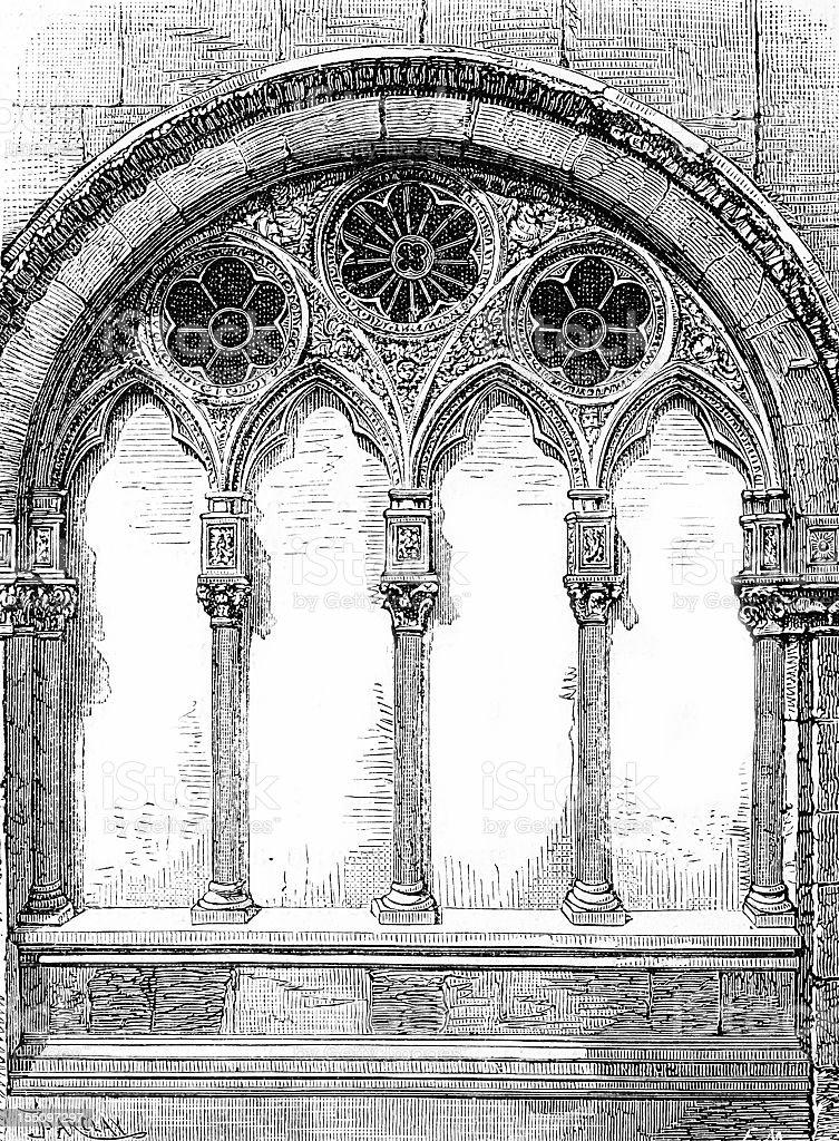 Santa Maria della Rosa window vector art illustration