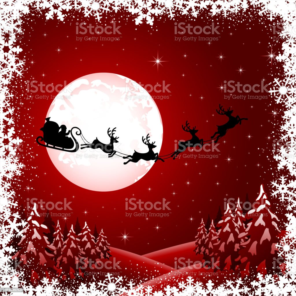 Santa on red background royalty-free stock vector art