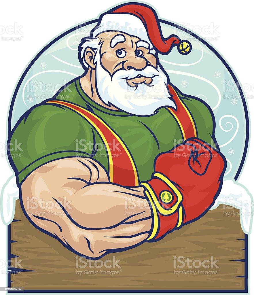 Santa Power royalty-free stock vector art