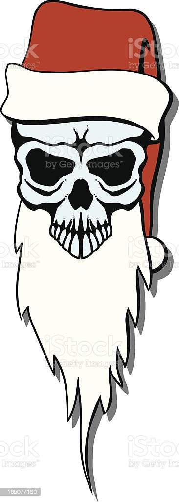 Santa skull royalty-free stock vector art