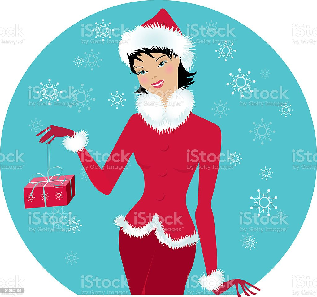 Santa-girl royalty-free stock vector art