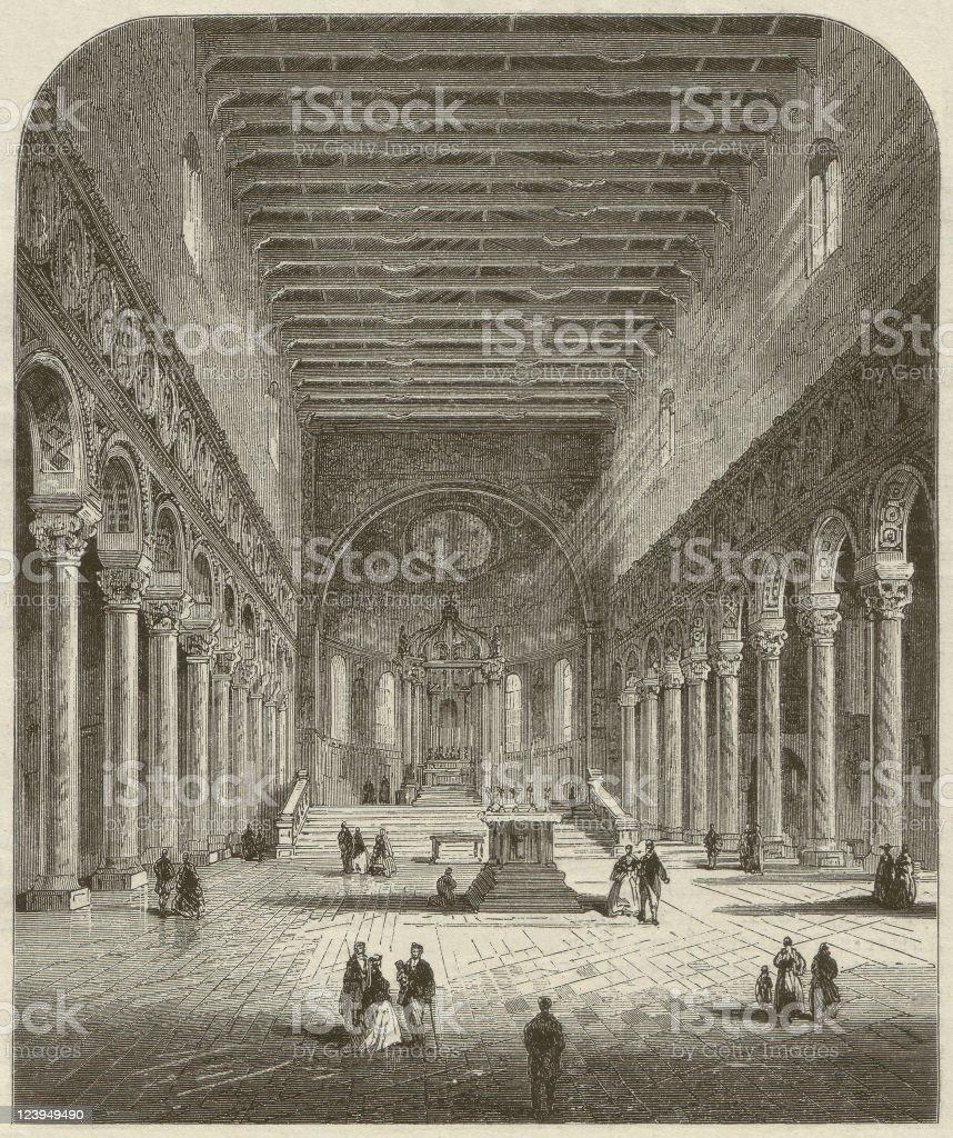 Sant'apollinare Nuovo royalty-free stock vector art