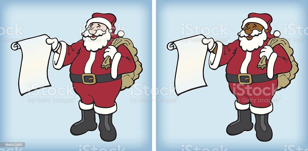 Santa's List vector art illustration