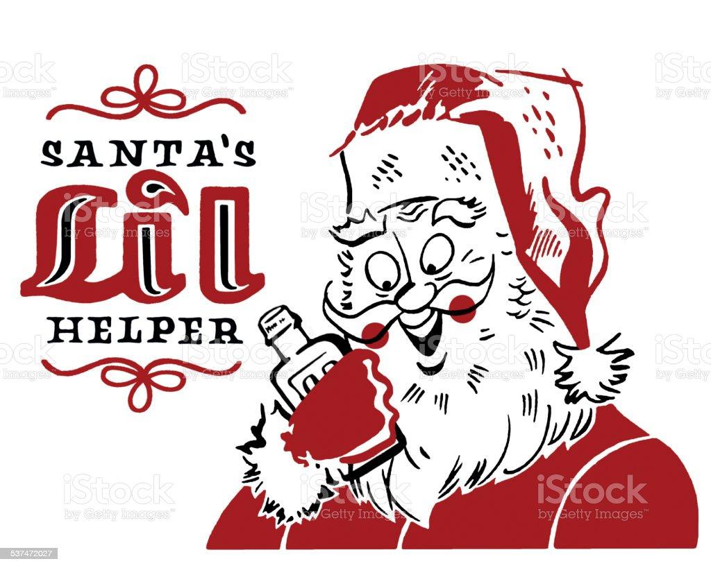 Santa's Little Helper vector art illustration