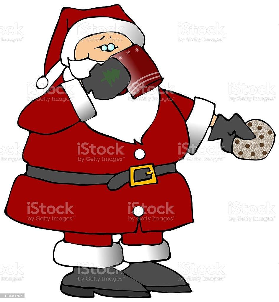 Santa's Treats vector art illustration