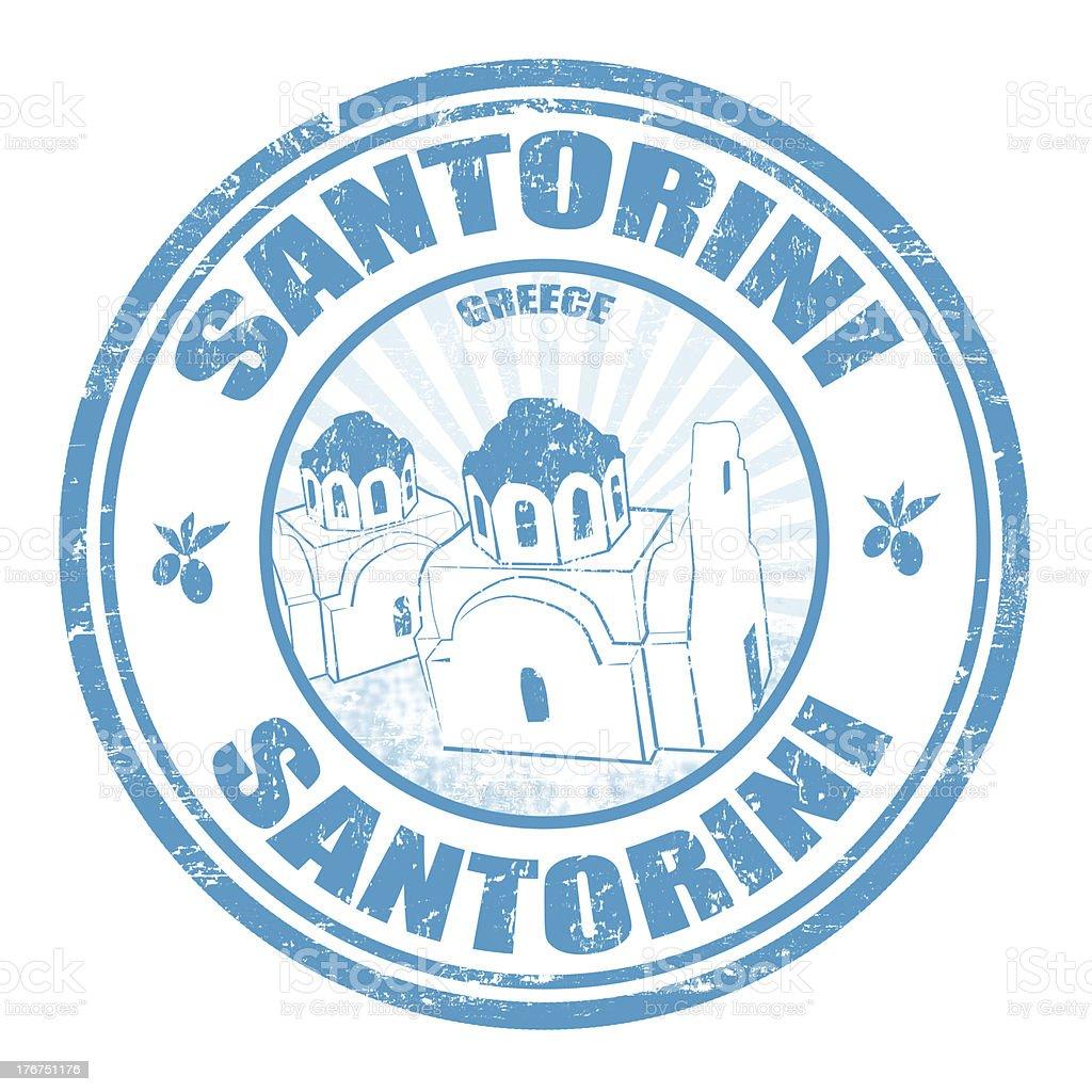 Santorini stamp royalty-free stock vector art
