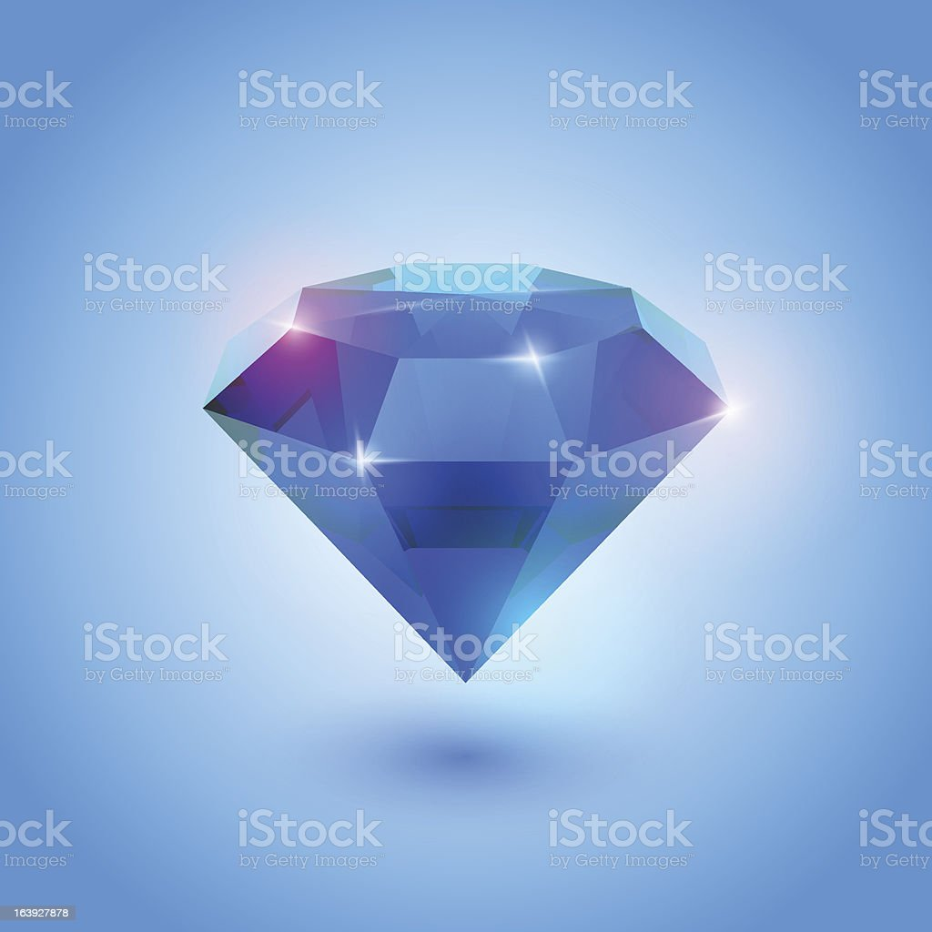 sapphire gem royalty-free stock vector art