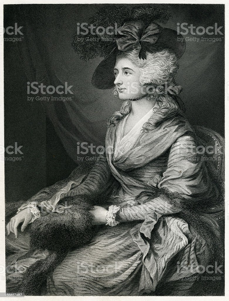 Sarah Siddons vector art illustration
