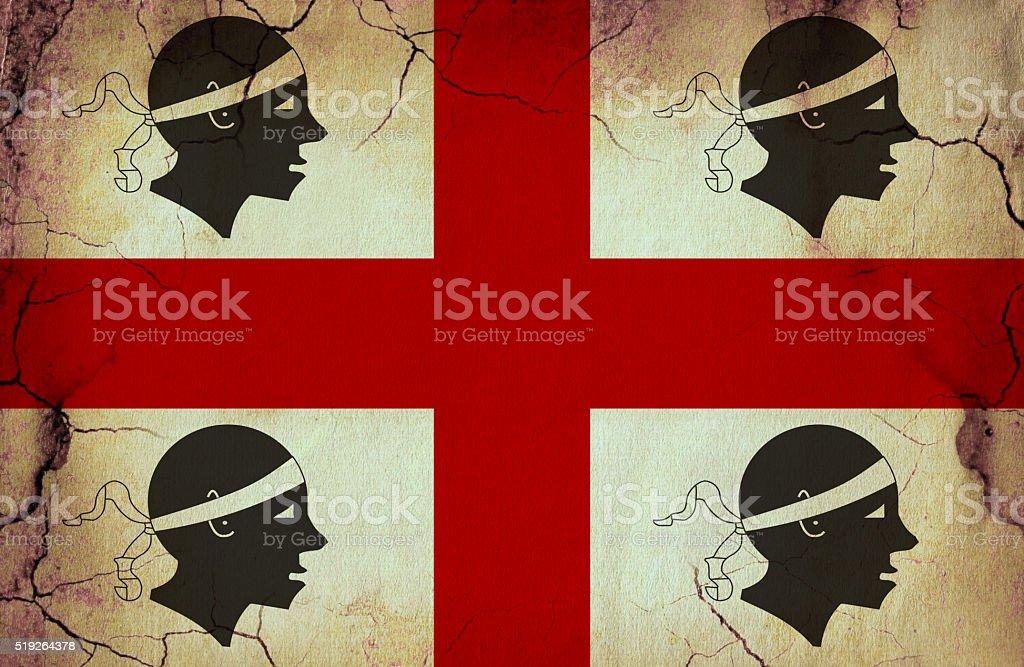 Sardinia grunge flag vector art illustration