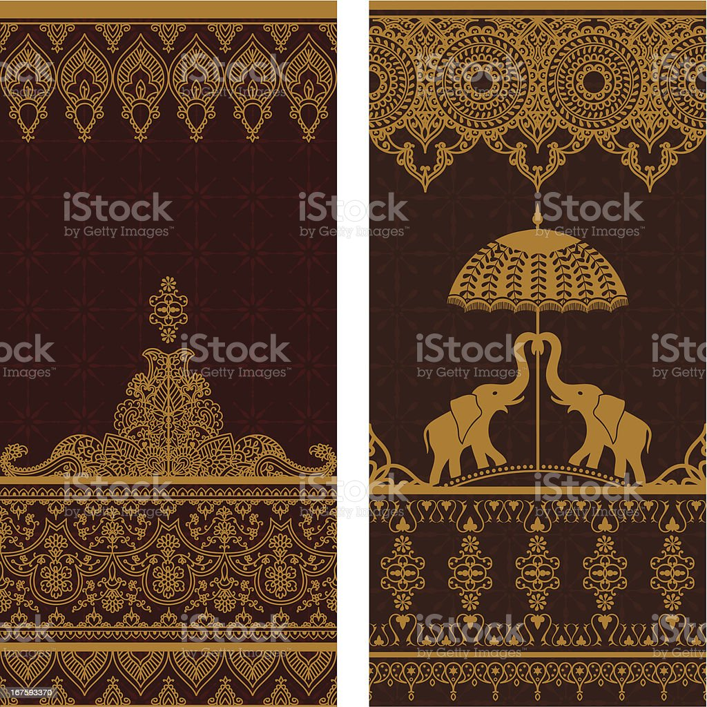 Sari Borders royalty-free stock vector art